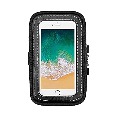 Motorcycle Magnetic Tank Bag, Sportbike Phone Pouch Case with 8 Strong Magnets Mount Fits iPhone 11, 11 Pro, X, XR, 8, 8 Plus, 7, 7 Plus, Galaxy S10+, S9, S8 from kemimoto