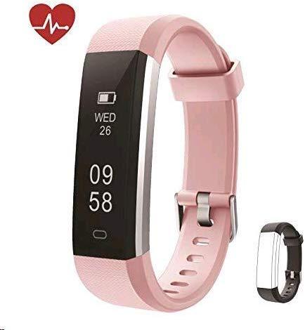 Huyeta Fitness Armband mit herzfrequenz Fitness Tracker mit Pulsmesser Wasserdicht IP67 Aktivitätstracker Pulsuhren Bluetooth Smart Armbanduhr Schrittzähler Damen mit GPS Alarm Kalorienzähler
