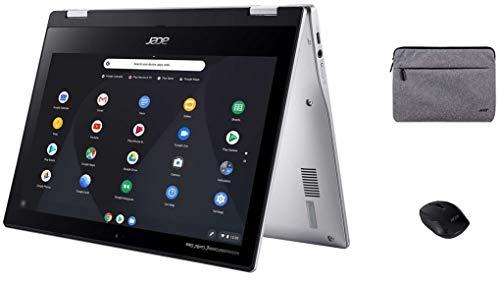 Acer Spin 311 2-in-1 Chromebook, 11,6 Zoll HD IPS Touchscreen, MediaTek MT8183C Prozessor, 4 GB Speicher, 64 GB eMMC, Webcam, WLAN, Bluetooth, Chrome OS, KKE Wireless Maus und Sleeve Bundle