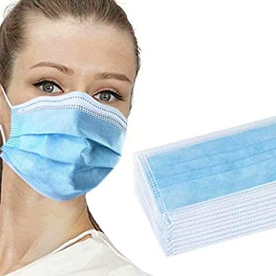 30 PCS Blue Safety Face Shields with Earloops Anti-Spitting Protective Dust-proof Cover Breathable for Personal Health