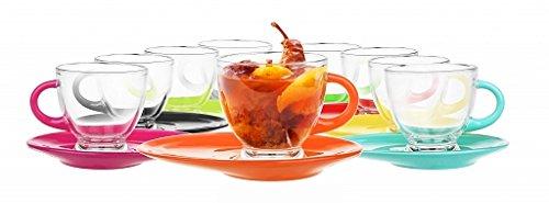 Tasses à Cappuccino 220 ml avec soucoupe 9 couleurs Verres à Café Tasses à Café Café rose