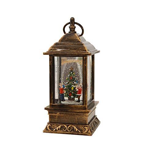 SLHP LED Sneeuw Lantaarn Sneeuw Globe Kerst Decoratie Snoeien Kleine Lantaarn Met Santa, Water Gevuld, Warm Wit Glinsterende Lantaarn Valentine Home Decoratie Batterij Bediend