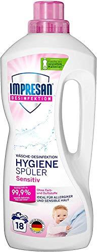 Impresan Hygiene-Spüler Sensitiv - Wäsche Desinfektion ohne Duft- und Farbstoffe – 1 x 1,5L