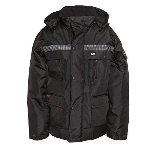 Caterpillar Men's Heavy Insulated Bomber Jacket, Black, XL