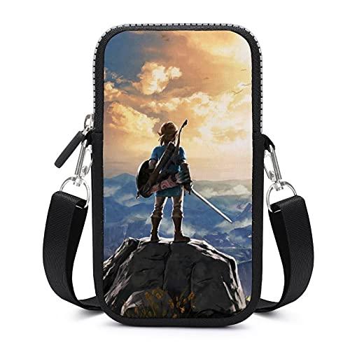 Game Theme The Legend Of Zelda Crossbody Phone Bag Mujer Teléfono Bolsa de teléfono celular Crossbody Bolso de hombro monedero monedero.