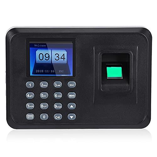 2.4 Pulgadas de Huella Dactilar Máquina de Asistencia con contraseña Pantalla TFT LCD Empleado Registro de Registrador Grabador DC 5V Tiempo de Asistencia Reloj(EU)
