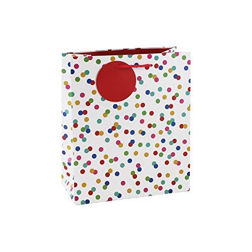 Clairefontaine 26988-3C - Sacchetto di carta regalo medio, 21,5 x 10,2 x 25,3 cm, a pois