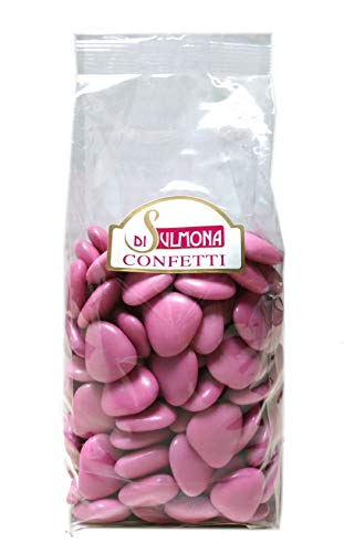 Confetti di Sulmona Cuori al Cioccolato, Rosa - 1000 gr