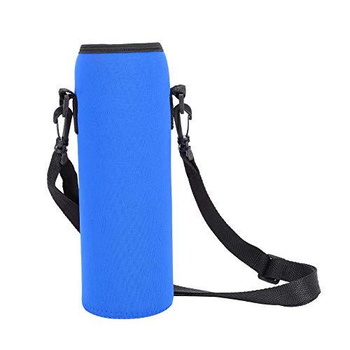 SolUptanisu Wasserflaschenhülle, Wasserflaschenträger Ideal für Edelstahl- und Plastikflaschen, Sport- und Energiegetränke Wasserflaschenetui(Blau)