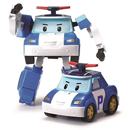 Robocar Poli 54209 Robocar Transformable Poli Le héros-Réplique Officielle-Se transforme Robot ou en Voiture Super rapidement-10 cm-Jouet Maternelle, Plastique, 10 cm