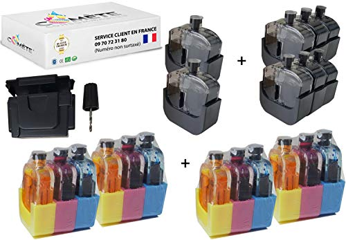 Cometa Francia - Juego de 4 juegos de recarga universal para PG-545 545 y CL-546 y 546 para cartuchos de tinta negra y colores compatibles con las impresoras Canon PIXMA fácil económico y ecológico.