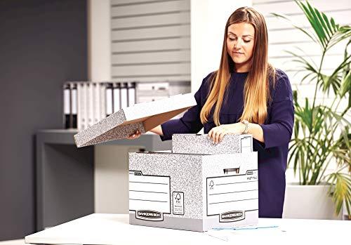 Bankers Box System Standard-Archivbox (Fastfold System) 10 Stück grau - 6