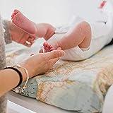 Mimuselina Cambiador Bebé de Sobremesa con Funda | Cambiador Gomaespuma, Impermeable, Incluye Funda Ajustable y Lavable. Cambiador cómoda. 50x10x70cm… (Mapamundi)