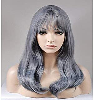 Women's Synthetic Wig Long Natural Wave Grey Natural Wigs Costume Wig