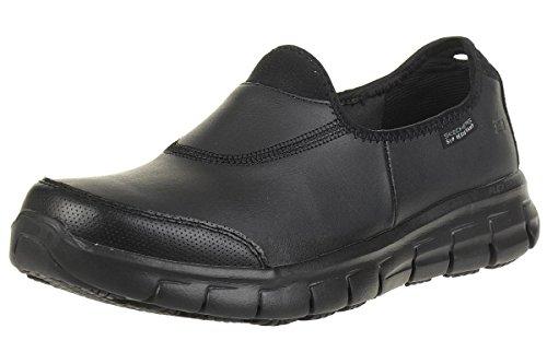 Skechers Sure Track, Zapatos de trabajo para Mujer, color Negro, 39 EU