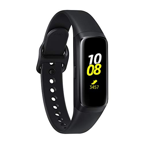Samsung Galaxy Fit con Cardiofrequenzimetro, Accelerometro, Giroscopio, Tracker Allenamento, Display 0.95 Full Color AMOLED Full Touch, Batteria 120mAh, Nero