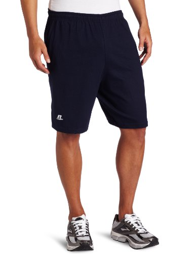 Russell Athletic Men's Cotton Baseline Short with Pockets, J. Navy, Medium