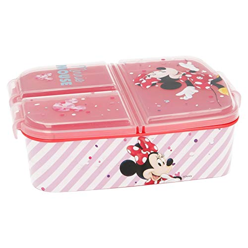 Stor Minnie Mouse - Disney | Brotdose mit 3 Fächern für Kinder - Kids Sandwich Box - Lunchbox - Brotbox BPA frei