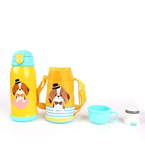 Botellas Acero Inoxidable Niños Pajita Marca kabinga