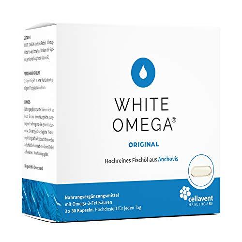 Omega 3 Kapseln (3-Monatspackung) - 1000mg hochreines Fischöl - 774mg Omega-3-Fettsäuren je 340mg DHA & EPA - 90 Stk.