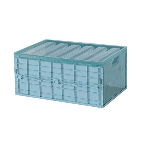 Estuche de almacenamiento de plástico Multifuncional Portátil Plegable Caja de almacenamiento de coche Armario en casa Organizador de almacenamiento - Tamaño L (Azul)