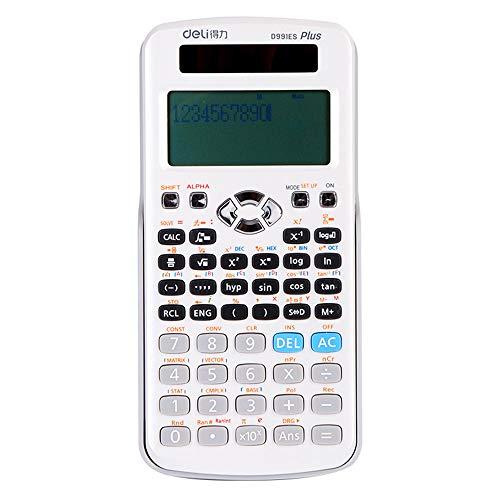 Office Supplies Calcolatrice di funzioni scientifiche, calcolatrice finanziaria per Studenti Multi-Funzione, Adatta per Studenti Universitari calcolo finanziario di contabilità plurale ZDDAB