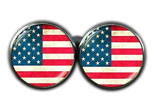 Amerikanische Flagge Manschettenknöpfe, Patriotische Manschettenknöpfe