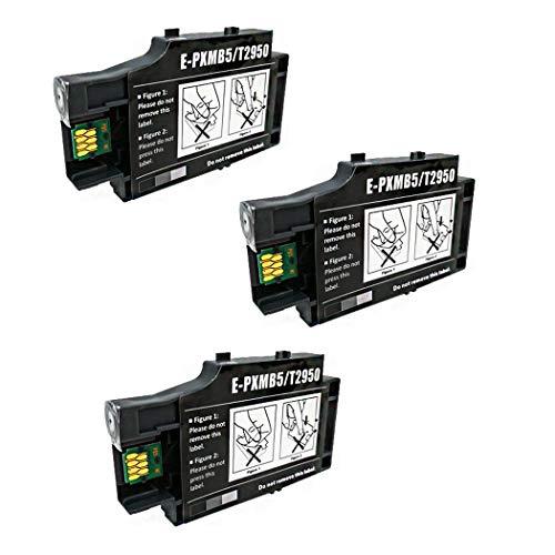 F-Ink Wartungsbox für Epson T2950 und E-PXMB5, kompatibel mit Workforce WF-100 WF-100W Drucker, 3 Stück