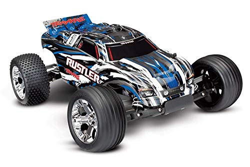 Traxxas Rustler XL-5 Stadium Remote Control RC Truck with Remote Control for Adults and Kids, 2WD, 1/10 Scale, Blue