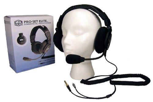 Heil Sound Pro Set elite-6Headset Ultimate boomset entworfen für kommerzielle sportscasters, podcastern und Funkamateure mithilfe der NEU entworfenen Heil HC 6breit Antwort Mikrofon Element.