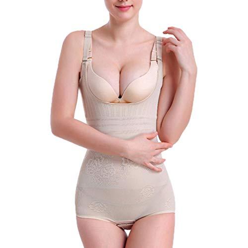 Damen Unterbrust Postpartum Body Beauty Korsett Cincher Verbunden Shapewear Ultradünne Körperformung Einteilige Kleidung Bauch Hüften Unterwäsche Unterstützung Brust Elastische Abnehmen(Beige,2XL)