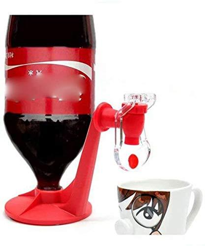Waymeduo bebidas gaseosas y mantenga la gaseosa con presión de interruptor Dispensador de gaseosa al revés agua Gran idea para la herramienta de cocina creativa para fiestas en el hogar - Rojo