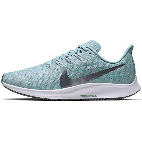 Nike Air Zoom Pegasus 36 Women's Running Shoe Ocean Cube/MTLC Cool Grey-Pure Platinum Size 9.0
