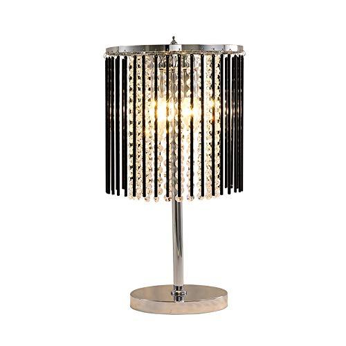 Smart led Lámpara de la lámpara de mesa de cristal simple y moderna de la lámpara de la mesita de noche del piso de la cama de la noche del dormitorio de la lámpara de la mesa del LED de LED 25 * 47 c