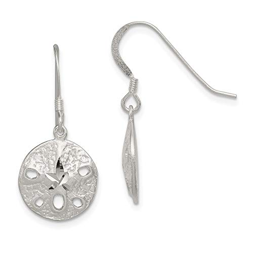 925 Sterling Silver Sand Dollar Sea Star Starfish Drop Dangle Chandelier Earrings Outdoor Nature Animal Life Fine Jewelry For Women Gifts For Her