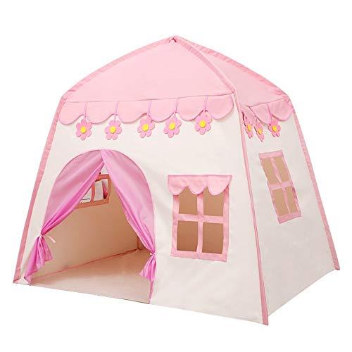 XXYWJF Tienda de campaña para niños de princesa, supergrande, para interiores y exteriores, castillo, princesa, juego de vida de océano, bolas de campaña (color rosa (sin bola))