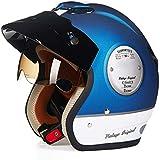 ZHXH Harley Certificazione casco/punto/ece per moto, casco per scooter per adulti, adatto a giovani uomini e donne per mezzo casco aperto + parasole incorporato