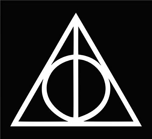 cmi234Heiligtümer des Todes Harry Potter (2Aufkleber von 5,1cm) die Cut Auto-Aufkleber Vinyl Aufkleber für Auto Fenster Bumper Truck Laptop iPad Notebook Computer Skateboard Motorrad