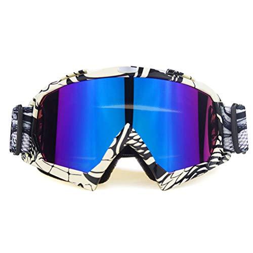 OUTEYE Gafas de Motocicleta Gafas de Montar - Gafas de Moto Gafas de esquí a Prueba de Viento Gafas de Snowboard para Moto Dirt Bike ATV, Accesorios de esquí