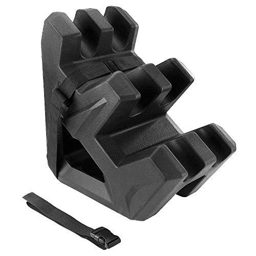 UTV Ranger Gun Holder, kemimoto No Perforation Easy Install UTV Gun Holder Mount Bracket On Seat Compatible With Polaris Ranger General Can Am Defender Honda Pioneer Side By Side (Hold 2 Guns)
