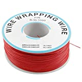 New Lon0167 PCB 0.25mm Alambre de cobre Diám. Cable de envoltura 305M 30AWG Rojo(PCB-L_ö_tzinn 0,25 mm v_e_rzinntes Kupferkabel Dia Wire-Wrapping-Draht 305M 30AWG Rot