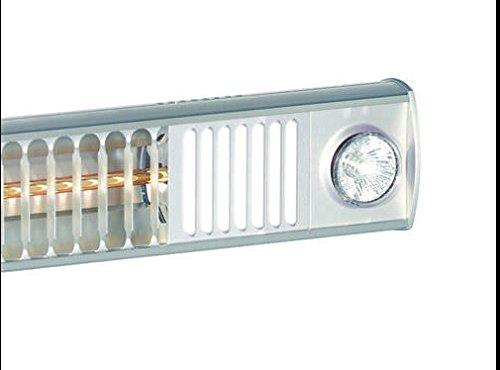 "Infrarotstrahler Terrassen Strahler ""Burda Term 2000"", 2000 Watt – mit eingebautem Licht LED Spots – Alu poliert - 4"