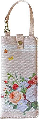 大西賢製販 メガネ ポーチ ガーデンローズ ピンク 1×8.5×18cm