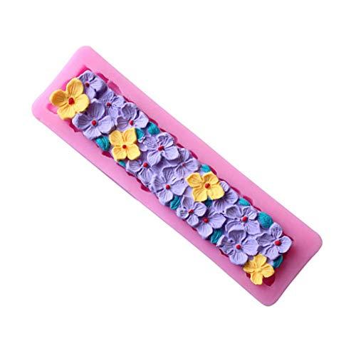 Yihaifu DIY Flores Pastel de Silicona moldes de Chocolate Gumpaste Resina Arcilla Herramientas del Molde DIY Flores Caramelo Moldes Pasta de azúcar Que adorna