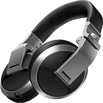 PIONEER DJ Headphones, SIlver, On Ear (HDJX5S) by Pioneer DJ