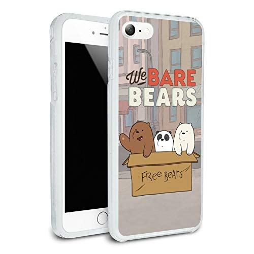 We Bare Bears Baby Bears Protective Slim Fit Hybrid Rubber Bumper Case for Apple iPhone 7 and 7 Plus