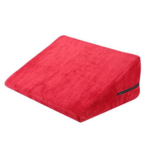 Almohada de espalda y pierna, almohada de cuña de cama de densidad firme para apoyo de espalda y rodilla