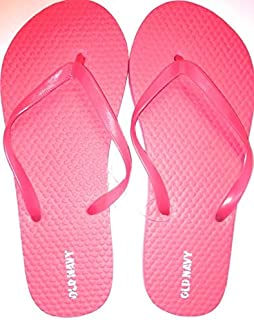 OLD Navy Flip Flops for Girls (Size 1/2, Bright Time Neon)