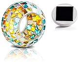 Solar Powered Mosaic Glass Ball Garden Lights,Colour changing solar garden lights,Mosaic solar...