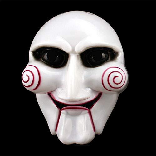 XWYWP Máscara de Halloween Halloween Party Cosplay vio marioneta máscara popular disfraz Billy Jigsaw Props Máscaras ambiente festivo suministros ChainsawMurderMask